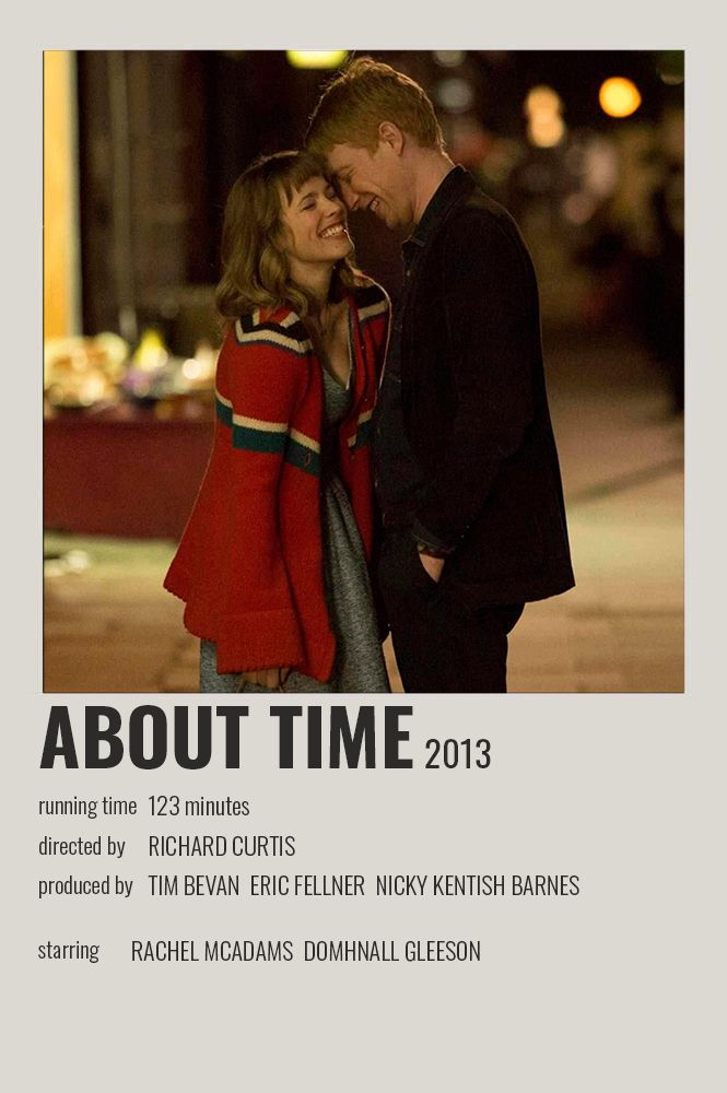 About Time Polaroid Poster