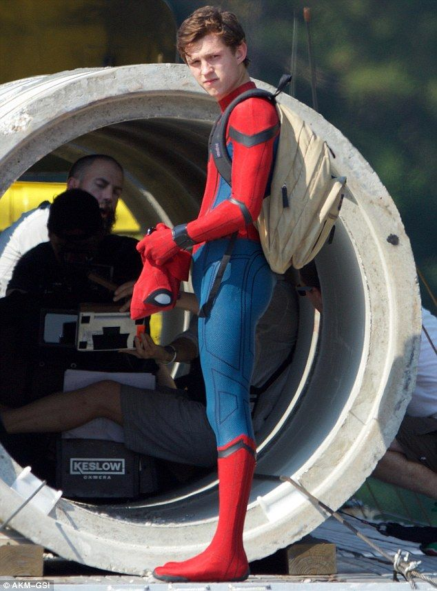 Tom Holland leaps into action as filming begins for Spider-Man reboot