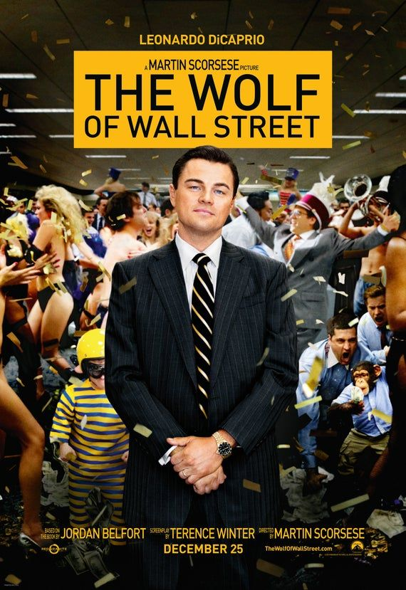 The Wolf of Wall Street Movie Poster High Quality Glossy Print Photo Wall Art Leonardo DiCaprio Size